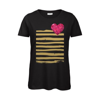 T-Shirt Heart & Stripes